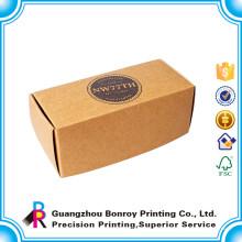 caja de embalaje plegable al por mayor plegable de papel de encargo de encargo del almuerzo de papel