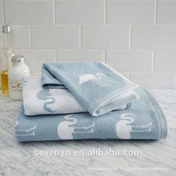 High quatity Flamingo Jacquard Towel Sets HTS-014