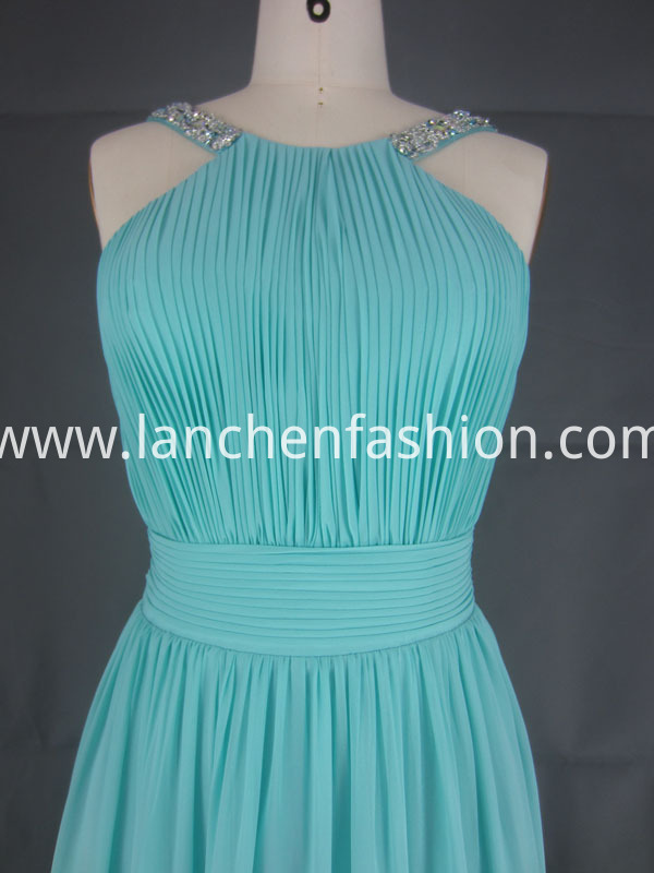 Cocktail Chiffon Dress aqua