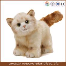 juguetes de peluche al por mayor del gato animal de la fábrica de China de alta calidad pequeña orden