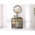 Factory indoor furniture antique American decorative wooden cabinet