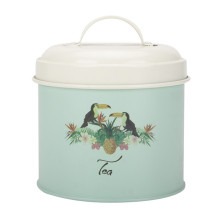 Green tea sugar coffee canister bread bin set