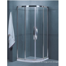 Cuarto de baño fácil limpia de vidrio templado ducha (H001A)