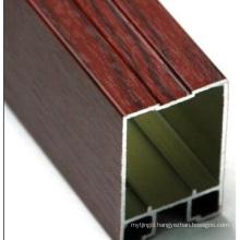 Wood Color Aluminum Section Aluminium Construction Profile Extrusion