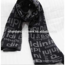 Venta caliente de la fábrica de mezclilla interna Cashmere Jacquard bufandas de punto