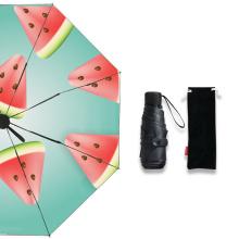 Portable Small Mini Fruit Watermelon 5 Foldable Umbrella with Full Custom Logo