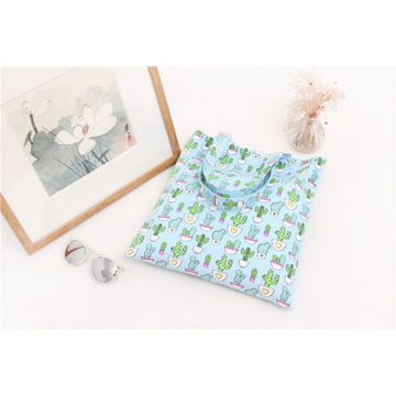 Canvas Shopping Tote Bag Print Cactus
