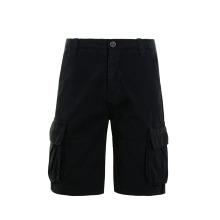 Fashion Style Knee Length Black Cotton Cargo Shorts