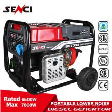 Einphasige 6,5 Kw Benzin Hochdrehzahl Generator Lichtmaschine