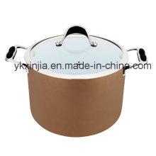 Utensílios de cozinha Alumínio profundo Ceramic Coating Sauce Pot, Pasta Pot, Panelas