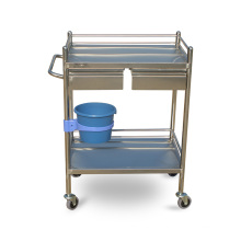 Shelves Stainless Steel Medical Trolley Instrument Trolley
