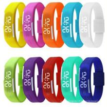 Mode Sport LED Uhren Candy Farbe Silikon Gummi Touchscreen Digitaluhren, wasserdichtes Armband