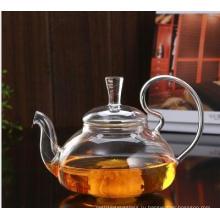 Стеклянный чайник большой вместимости с настойкой из нержавеющей стали