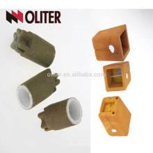 CEL contenido de silicato que mide con telurio cuadrado o redondo taza de análisis térmico de carbono para hierro fundido