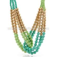 Imitation Pearl Link Chain Handmade Knit Elegant Party Necklace