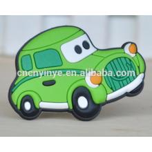 Imán de nevera de diseño del coche e imán suave del pvc, imán del refrigerador de la historieta de goma