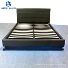 Elegant Design Home Furniture Hotel Beds PU Bed with LED