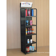 Single Sided 5 Layer Floor Standing Metal Display (PHY365)