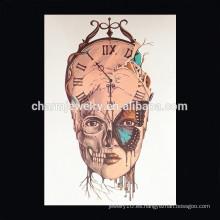 OEM Venta al por mayor reloj tatuajes brazo para hombre diseño especial tatuaje para dama corona imperial tatuaje para chica W-2028