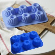Grado de la comida forma encantadora forma de calabaza molde de la torta de silicona