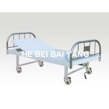 A-128 cama de hospital manual de função única móvel