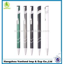 Professional retractable cheap metal clip aluminium ball pen