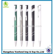 Профессиональный выдвижной дешевые металлические клип Алюминиевая шариковая ручка