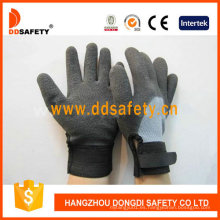 Grey T / C Shell Black Nitrile Ajustable Wrist Work Glove Dkl562