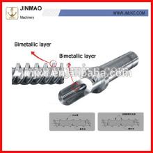 gute Qualität bimetallische Doppelschnecke und Zylinder für Spritzgießmaschine