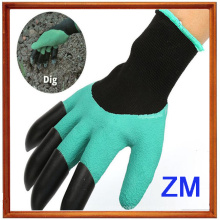 Hot Product Latex Coated Digging Garden Gloves With Four Claws