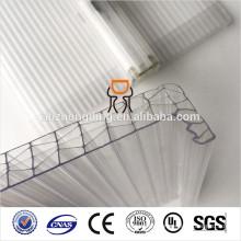 multi-pared u cerradura impermeable hueco hoja de policarbonato
