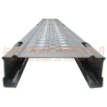Andamio de tablones de metal con escalera portátil de aluminio y escaleras de plataforma