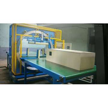 Dyehome Steel sheet horisontal mesin pembungkus film stretch