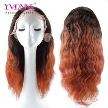 Ombre Цвет Бразильский Человеческих Волос Полный Парик Шнурка