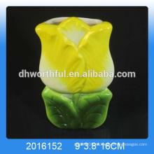 Venta al por mayor humidificador de aroma de cerámica, humidificador de aire de cerámica ambientador en forma de flor