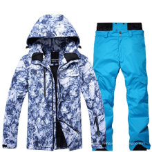 Custom Men Camo All Over Printing Winter Outdoor Softshell Waterproof Outfit Snow/Ski Suit