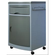 CE Clasificación ABS Gabinetes de hospital color gris con ruedas