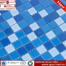 heißer Verkauf blau Kristallglas Pulver Mosaikfliese für Schwimmbad Wand