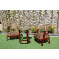 High class Interior Design Water Hyacinth Coffee Tea Set For Indoor Natural Wicker Furniture