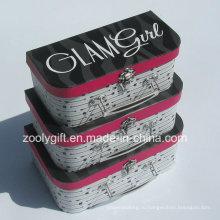 Настройте качественный бумажный чемодан с картонной коробкой / Оптовый ящик для упаковки подарочного чемодана