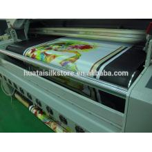 Directamente tejido de satén de seda impreso de fábrica