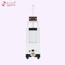 Robot de pulvérisation de brume d'hôpital tueur de bactéries