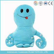 Custom PP Cotton Plush Toy Sea Animal Octopus Emoji Pillow
