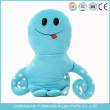 Descanso feito sob encomenda de Emoji do polvo do animal de mar do brinquedo do luxuoso do algodão dos PP
