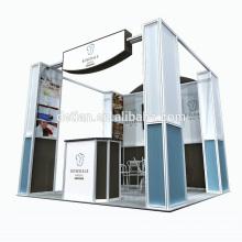 L'affichage de tissu de tension de stand de kiosque de salon d'exposition de Detian portatif avec le rayonnage