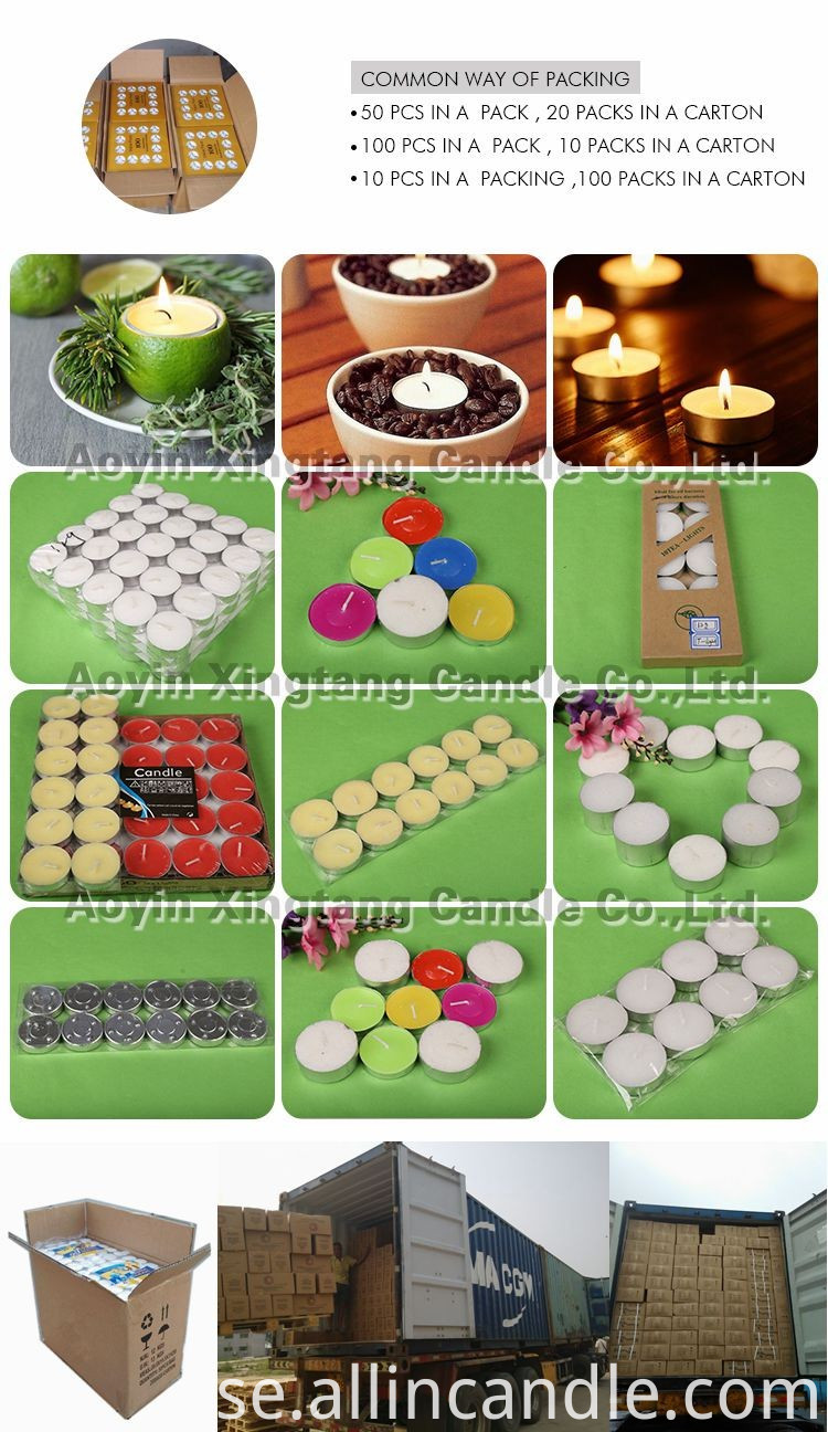 Wholesale price color scented tealight candle