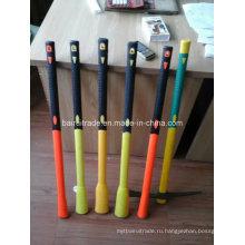 Пластиковые покрытием ручка для кирки