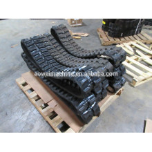 Good Price for Bobcat Mini Excavator Rubber Tracks,250mm,300mm,320mm,350mm,400mm,Mini digger robot rubber link track and pads,