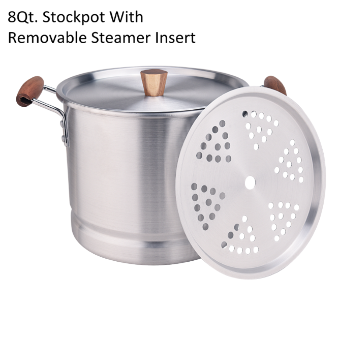 8qt Stockpot With Removable Steamer Insert