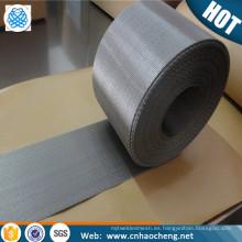 En existencia resistencia al desgaste PE cintas de estiramiento de líneas 40 mm 210 mm de ancho de malla holandesa de alambre armadura de malla tejida inversa